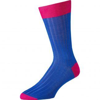 Cordings Royal Blue Cotton Lisle Kew Sock Main Image