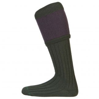 Cordings Olive Herringbone Shooting Stocking  Different Angle 1