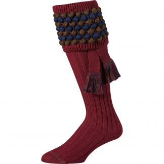 Cordings Wine Angus Bobble Top Shooting Stocking With Garter Main Image