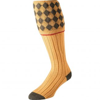Cordings Gold Kendal Merino Shooting Stocking  Different Angle 1
