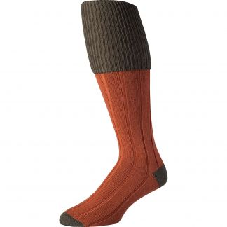 Cordings Cinnamon Merino Shooting Stocking  Different Angle 1