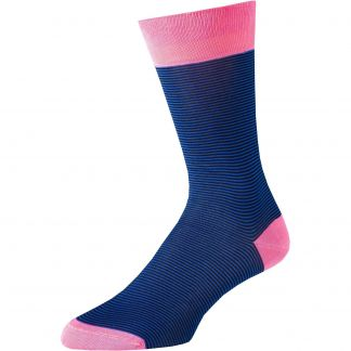 Cordings Royal Brighton Stripe Cotton Sock Main Image