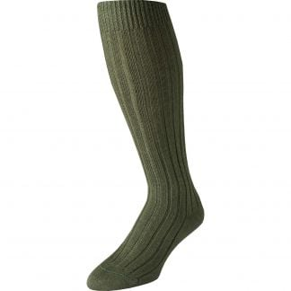 Cordings Green Merino Long Country Sock Different Angle 1