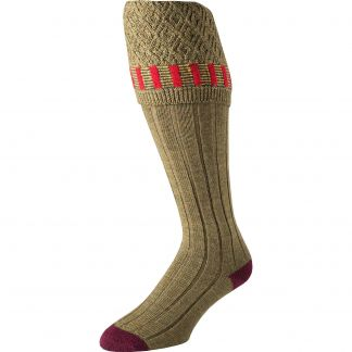 Cordings Sage Green Bristol Merino Shooting Stocking Different Angle 1