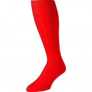 Cordings Red Merino Long Pennine Sock Different Angle 1