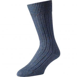 Cordings Blue Marl Country Sock Main Image