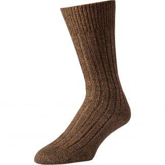 Cordings Brown Marl Country Sock Main Image