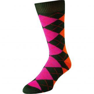Cordings Green Angus Argyle Sock Main Image