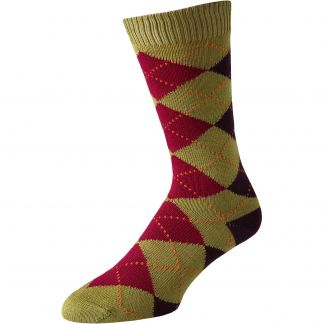 Cordings Khaki Angus Argyle Sock Main Image