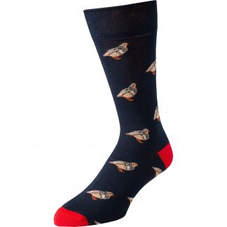 Cordings Navy Blue Red Grouse Sock Main Image