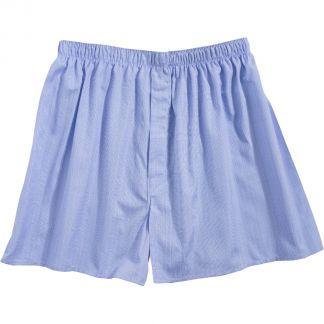 Cordings Blue Checked Cotton Boxer Shorts Main Image