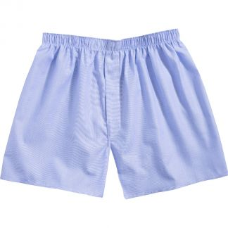 Cordings Mid Blue Twill Patterned Cotton Boxer Shorts Main Image