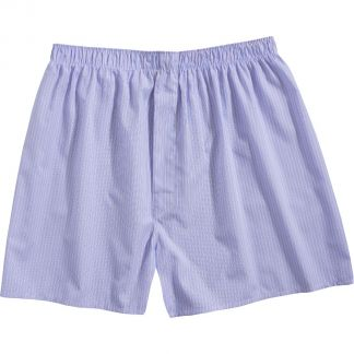 Cordings Blue and Pink Stripe Cotton Boxer Shorts Main Image