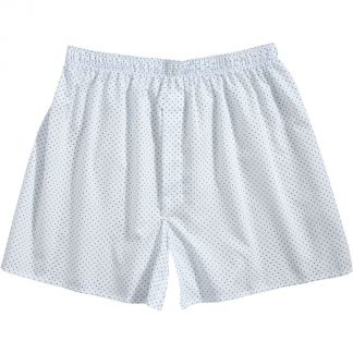 Cordings White and Blue Spot Cotton Boxer Shorts Main Image