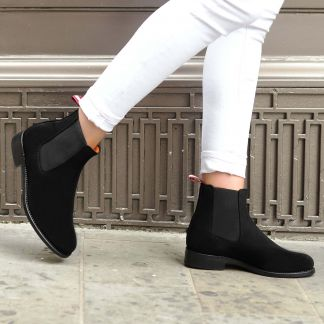 Cordings Dukes for Cordings Black Suede Chelsea Boot  Different Angle 1