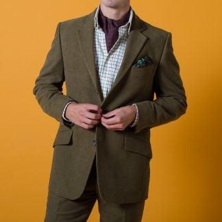 Cordings Green Lovat Earl Moleskin Jacket  Different Angle 1