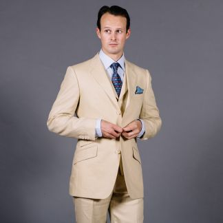 Cordings Sand Linen Jacket Different Angle 1