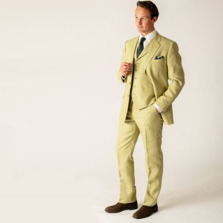 Cordings Light Green Linen Jacket Different Angle 1
