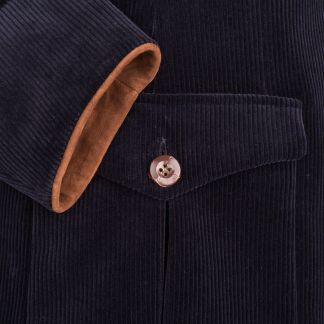 Cordings Navy Ripley Cord Jacket       Different Angle 1