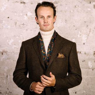 Cordings Brown Shetland Tweed Blazer Different Angle 1