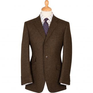 Cordings Brown Shetland Tweed Blazer Main Image