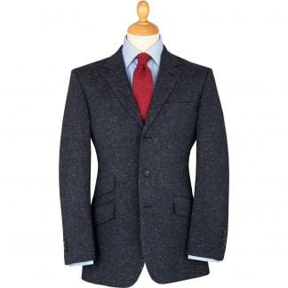 Cordings Navy Derry Irish Donegal Tweed Jacket Main Image