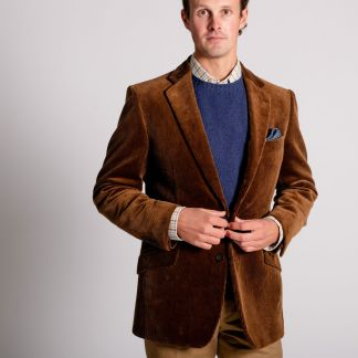 Cordings Chestnut York Corduroy Jacket Different Angle 1