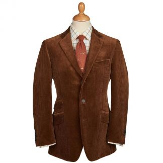 Cordings Chestnut York Corduroy Jacket Main Image