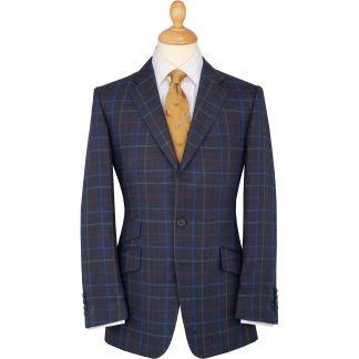 Cordings Blue Pelham Check Linen Jacket Main Image