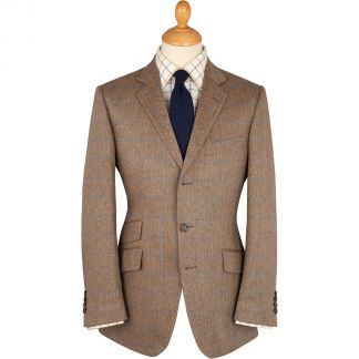 Cordings Brown Sudbury Silk Jacket Main Image