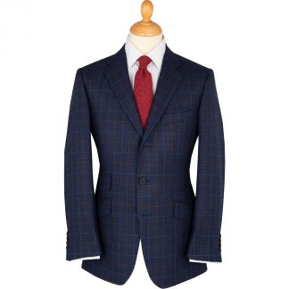 Cordings Blue Newton Wool & Silk Jacket Main Image