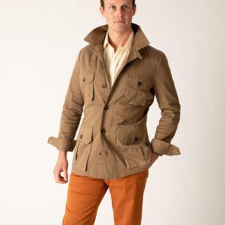 Cordings Khaki Kalahari Safari Cotton Jacket Different Angle 1