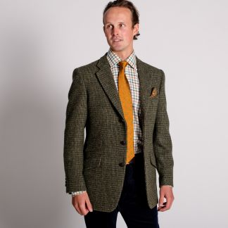 Cordings Green Callanish Harris Tweed Jacket Different Angle 1
