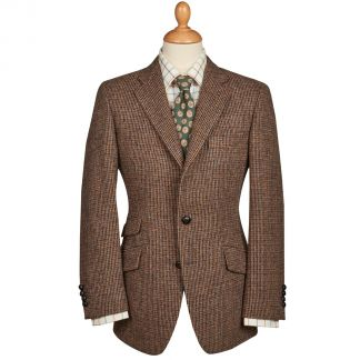 Cordings Brown Callanish Harris Tweed Jacket Main Image
