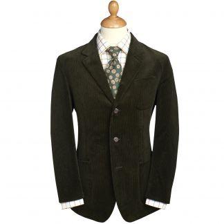 Cordings Green Olive Stockbridge Needlecord Jacket Main Image