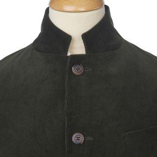 Cordings Green Olive Stockbridge Needlecord Jacket Different Angle 1