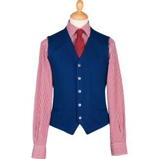Cordings Royal Blue Merino Waistcoat Different Angle 1