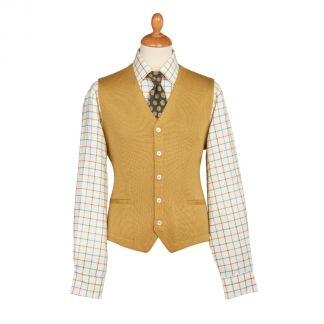 Cordings Sand Merino Waistcoat Different Angle 1