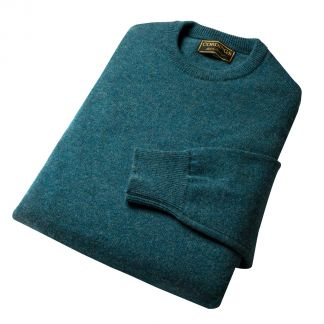 Cordings Hunter Green Lambswool Crew Neck Jumper Different Angle 1