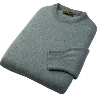 Cordings Sage Marl Lambswool Crew Neck Jumper Different Angle 1