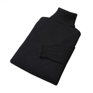 Cordings Black Geelong Roll Neck Jumper  Different Angle 1