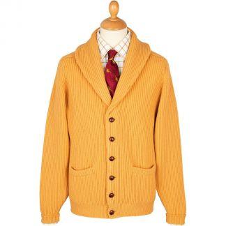 Cordings Gold 4 Ply Lambswool Cardigan Main Image