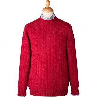 Cordings Berry Cable Crew Neck Main Image