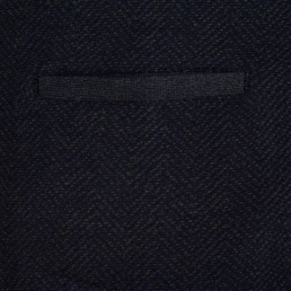 Cordings Navy Green Herringbone Merino Waistcoat Different Angle 1
