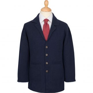 Cordings Navy Cashmere Hand Framed Milano Jacket Main Image