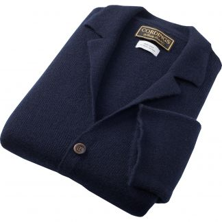 Cordings Navy Cashmere Hand Framed Milano Jacket Different Angle 1