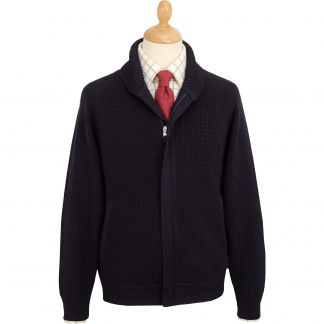 Cordings Navy Sloane Knitted Jacket Main Image