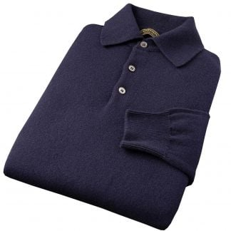 Cordings Navy Polo Merino Jumper Different Angle 1