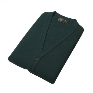Cordings Tartan Green Lambswool Knitted Waistcoat Different Angle 1