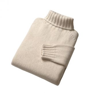 Cordings Cream Submariner Roll Neck Jumper Different Angle 1
